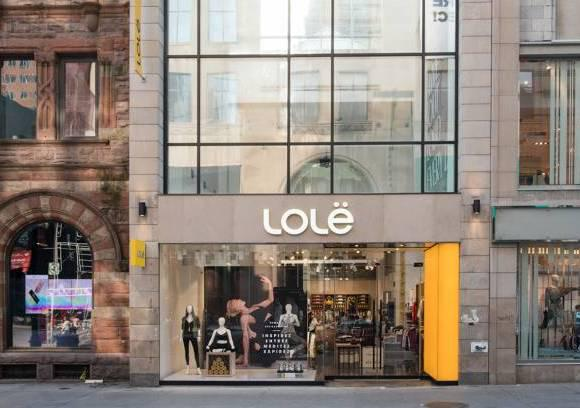 Grand opening of the new Lolë boutique on Sainte-Catherine West